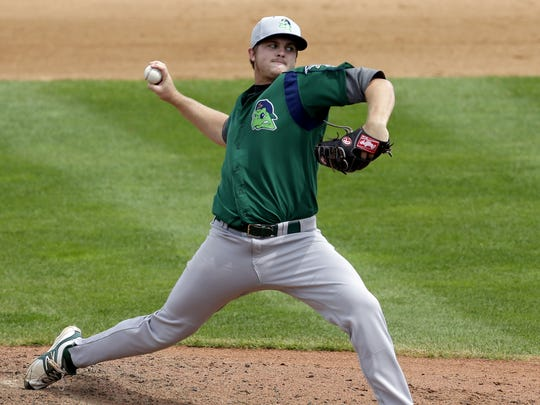 Beloit's Dylan Covey pitches against Wisconsin at Time