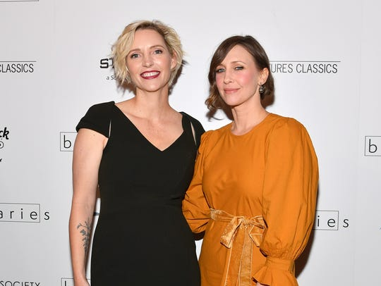 Director Shana Feste, left, and Vera Farmiga attend