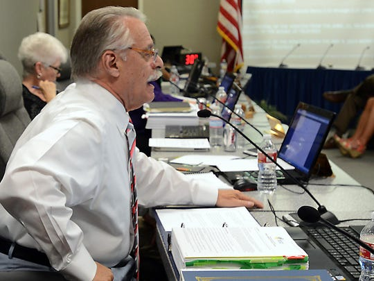 Washoe County School Board member Howard Rosenberg apologized to the board and public after losing his temper during their meeting Tuesday.