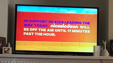 Nickelodeon went off the air for 17 minutes at the time of the national walkout