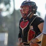UL catcher Lexie Elkins (33) was chosen as the Sun Belt Preseason Student-Athlete of the Year.