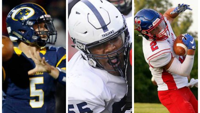 DeWitt's Will Nagel, East Lansing's Heath Williams and Mason's Nick Vondra are part of the AP's Division 3-4 all-state football team.