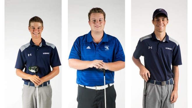 The News-Press All-Area finalists for Boys Golfer of the Year are (from left) Luke Farmer, Mason Kiernan and Jonah Manning.