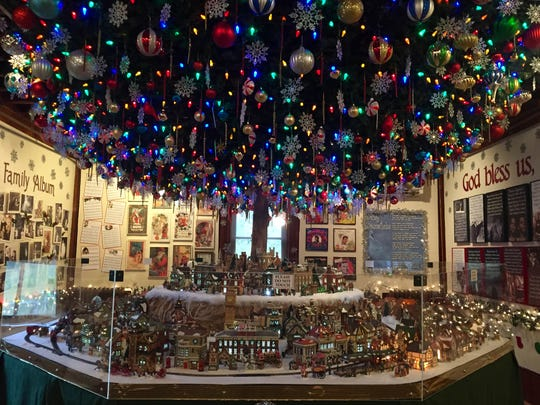 The miniature Christmas village in the carriage house of the Emlen Physick House in Cape May.