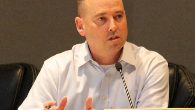 Kern County Director of Public Health Services Matt Constantine is seen at Ridgecrest's city hall in this file photo.