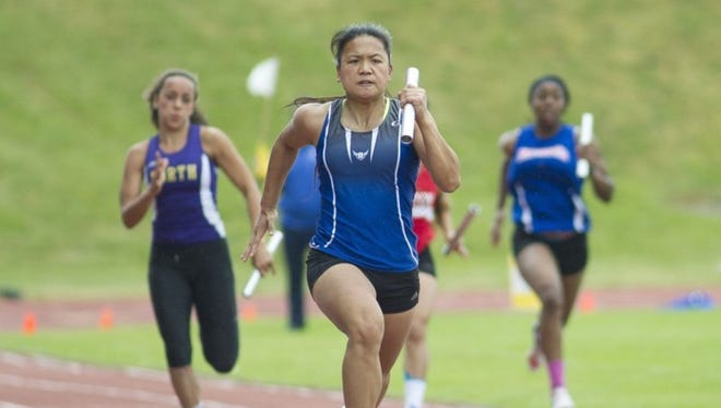 Olympic senior Danielle Monzon placed in four state events last spring for the Trojans.