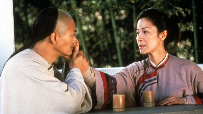"""Chow Yun Fat and Michelle Yeoh starred in the 2000 movie """"Crouching Tiger, Hidden Dragon."""""""