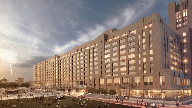 Three tenants -- ALSAC, Crosstown Arts and Farm Burger -- plan to spend a total of $11 million building out their respective spaces in Crosstown Concourse.