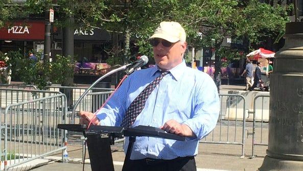 Morris Pearl, chairman of Patriotic Millionaires, speaks