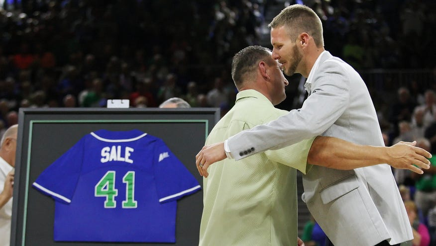 wholesale dealer e28f9 6cb88 Chris Sale humbled as first to have jersey retired at FGCU