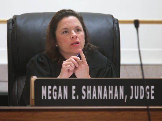 Hamilton County Judge Mega Shanahan presides over the first hearing in the Ray Tensing case since the mistrial.
