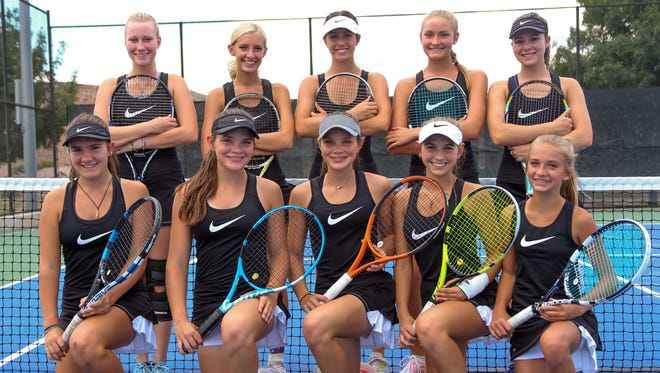 The Desert Hills tennis team capped off a 21-0 regular season with a win over Snow Canyon.