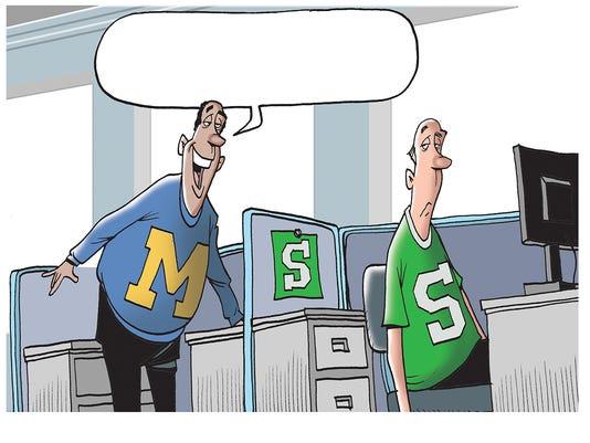 Michigan basketball Final Four cartoon caption contest