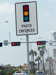 Red light camera at Doddridge Road and Ocean Drive
