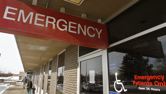 Broadlawns Medical Center's emergency department entrance is seen in 2007.