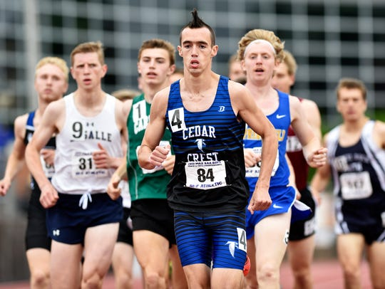 Cedar Crest's Jesse Cruise leads the pack in the Class