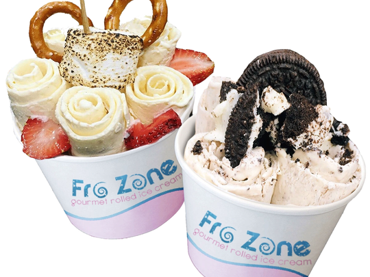 Fro-Zone sells rolled ice cream.