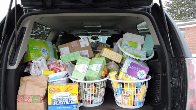 St. Rita School students kept busy all through December, collecting supplies for Daystar.