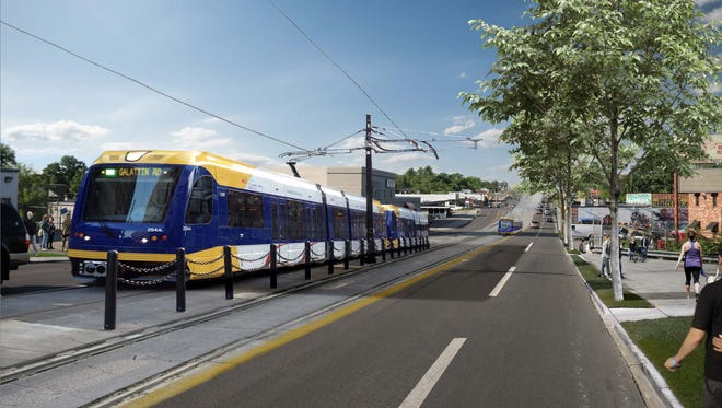 What Gallatin Pike near Douglas Avenue in Nashville could look like with light rail