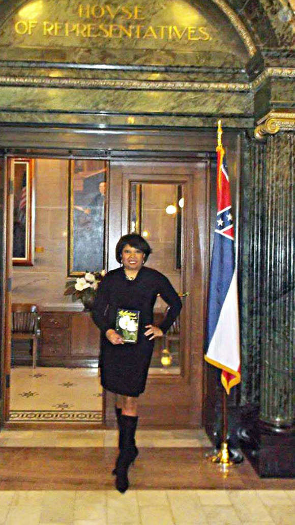Patricia Neely-Dorsey at the Capitol receiving her proclamation as Mississippi's Goodwill Ambassador