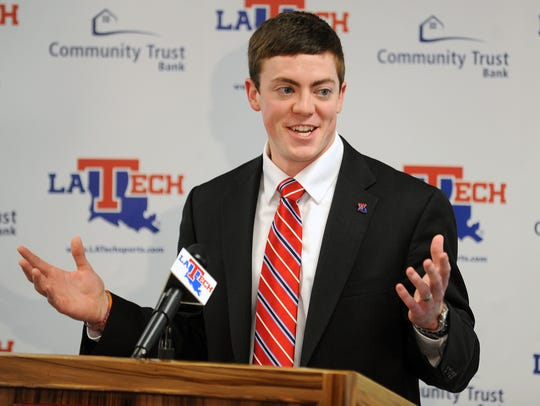 In this April, 2, 2014 file photo, Tyler Summitt talks