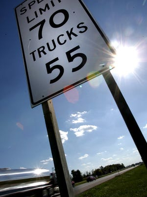 A sixteen wheeler rolls southbound on I-94, in northern Macomb County.