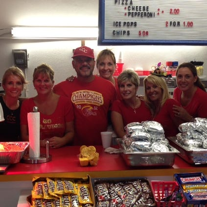 The Clearwater Central Catholic parents man the concession stand at Friday's home game.