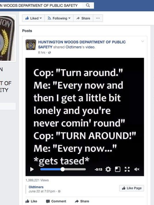 Huntington Woods Public Safety Department meme