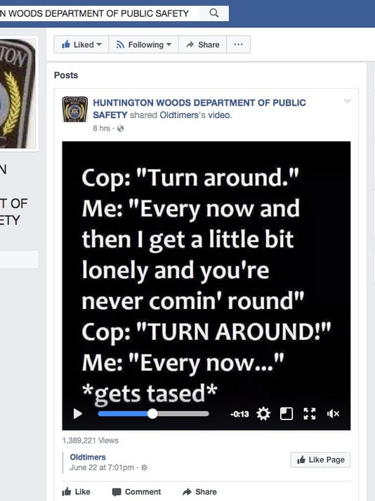 Huntington Woods Public Safety Department meme