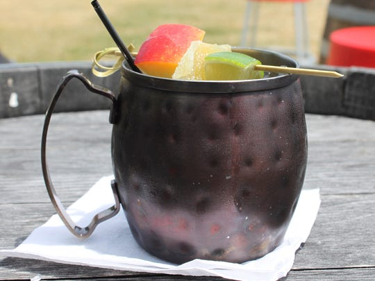 Peach Mule from Inn on the Lake.