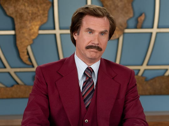 Will Ferrell is Ron Burgundy in 'Anchorman.""