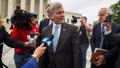 Former Virginia governor Robert McDonnell leaves the