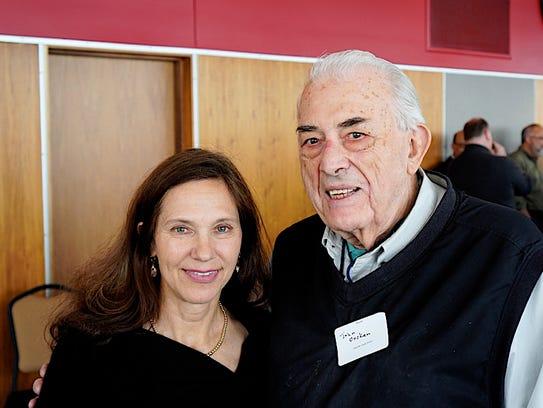 Beth Heiden and writer John Oncken together after meeting