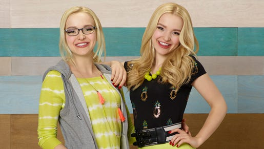 Dove Cameron and Dove Cameron in her award-winning turns as Maddie (left) and Liv.
