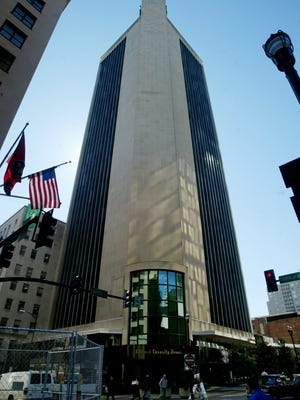 The Life & Casualty Tower on Church Street, pictured in  2005, is 31 stories tall.