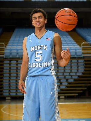University of North Carolina point guard Marcus Paige (5) at the Dean E. Smith Center.