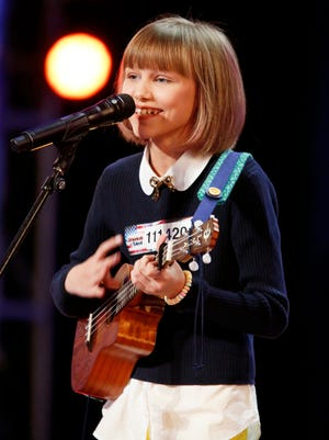 "AMERICA'S GOT TALENT -- ""Auditions Pasadena Civic Auditorium"" -- Pictured: Grace Vanderwaal -- (Photo by: Trae Patton/NBC)"