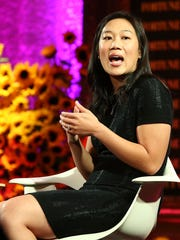 Priscilla Chan speaks onstage at the Fortune Most Powerful
