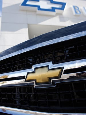 The grille of a 2010 Chevrolet Silverado pickup truck.