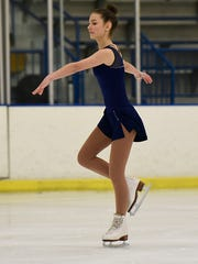 Freshman Grace Trudeau specializes in moves for the CDMCK Level A figure skating squad.