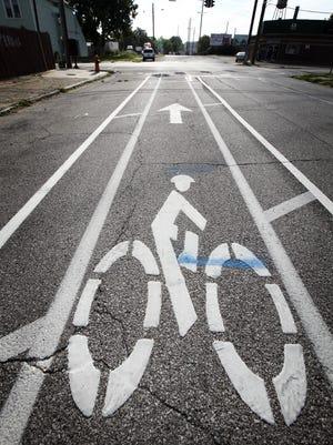 Bike lane on Kentucky Street. August 15, 2014