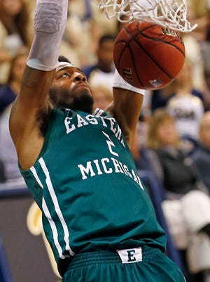 Eastern Michigan forward James Thompson IV dunks against Pittsburgh on Nov. 11, 2016.