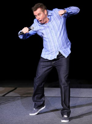 Brian Regan's elastic facial expressions played a large part in his 2015 performance at Tuacahn Amphitheatre in Ivins City. Regan will return to Tuacahn on May 4-6.