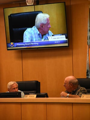 Chairman Eric Brechnitz, left, listens to Vice-Chair Ed Issler in this file photo.