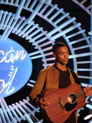 Eric Ellis during his American Idol performance.