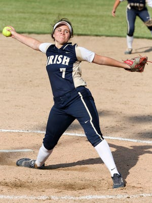 Cathedral's Lia Burnell pitched the Irish to victory Tuesday night.