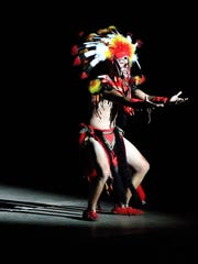A performer dances during the Viva! El Paso show July 8 at the McKelligon Canyon Ampitheater.