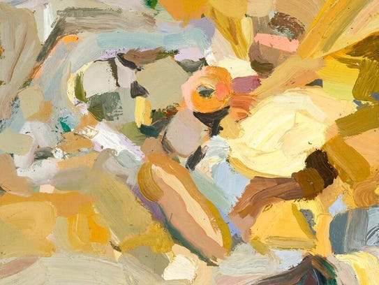 Suzanne Dittenber, Midden Pile III, oil on canvas