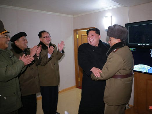 This photo was released by the North Korean Central