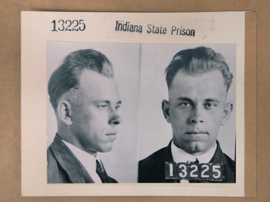 Indiana gangster John Dillinger's 1931 mugshots from the Indiana State Prison are among documents stored in the Indiana State Archives, 6440 E. 30th St., Indianapolis. The facility stores an estimated more than 300 million pages of paper and 450 million images on film, mostly microfilm.